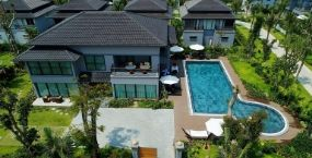 Aerial view of Stockton residential swimming pool